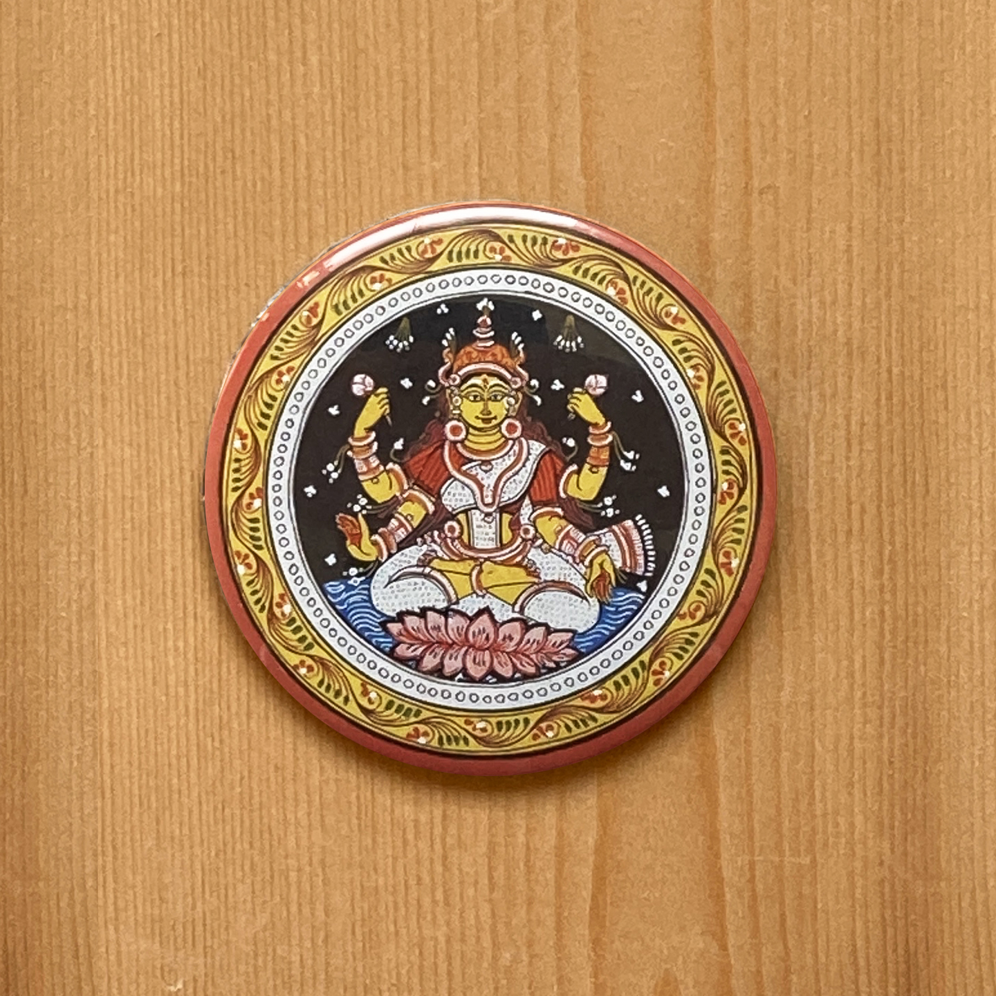 FRIDGE MAGNETS ROUND - Lakshmi Patachitra