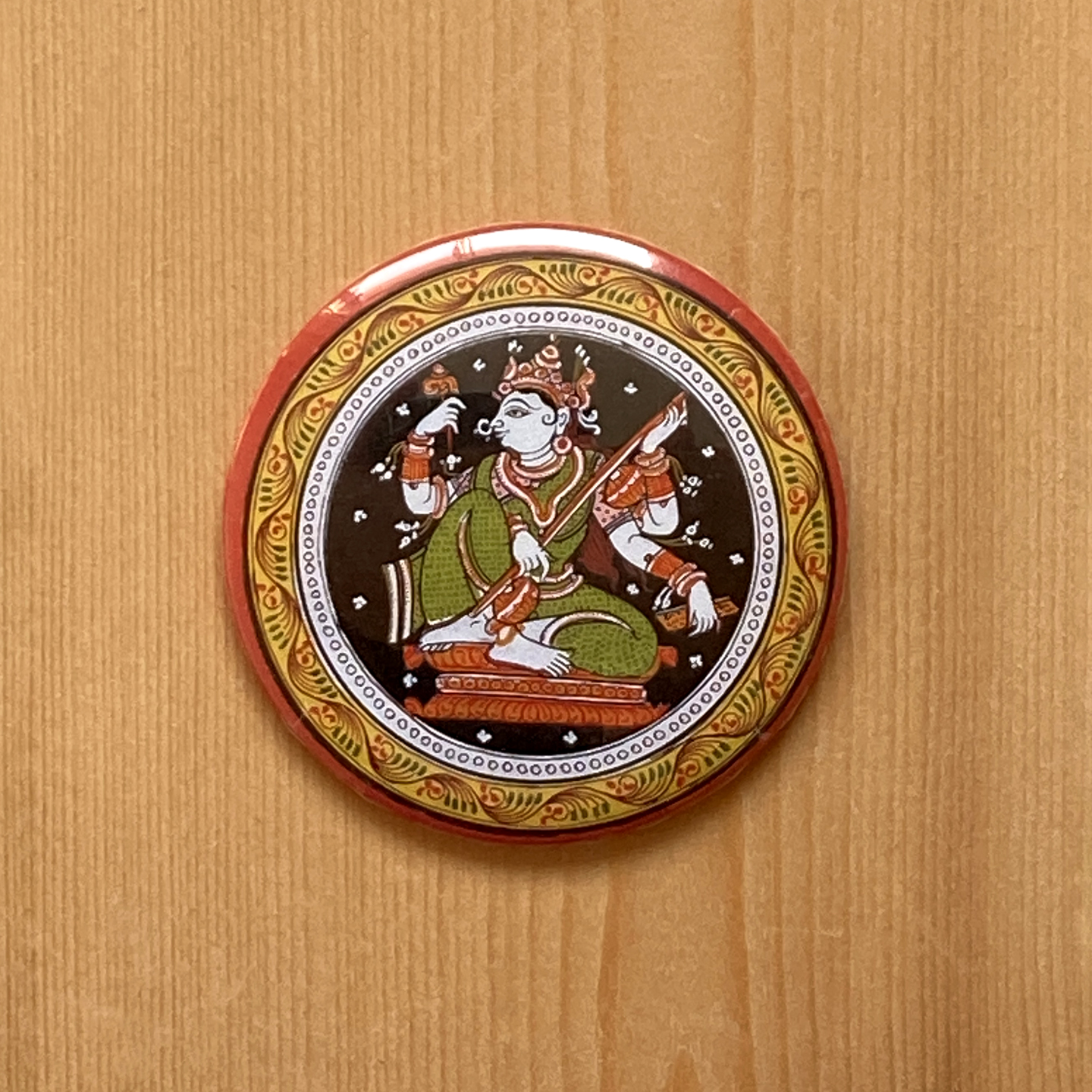FRIDGE MAGNETS ROUND - Saraswati Patachitra
