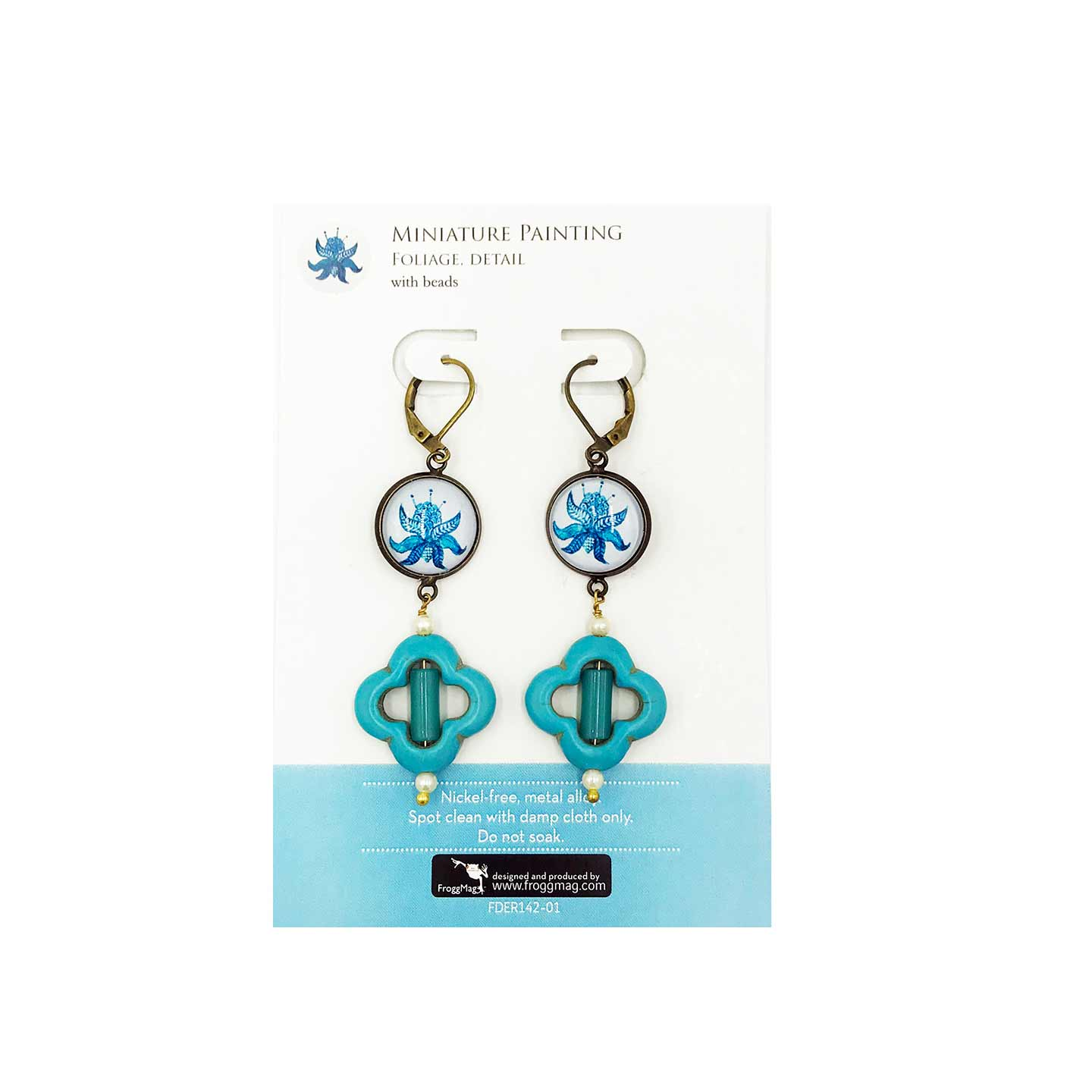 Earrings - Mughal Paintings with beads