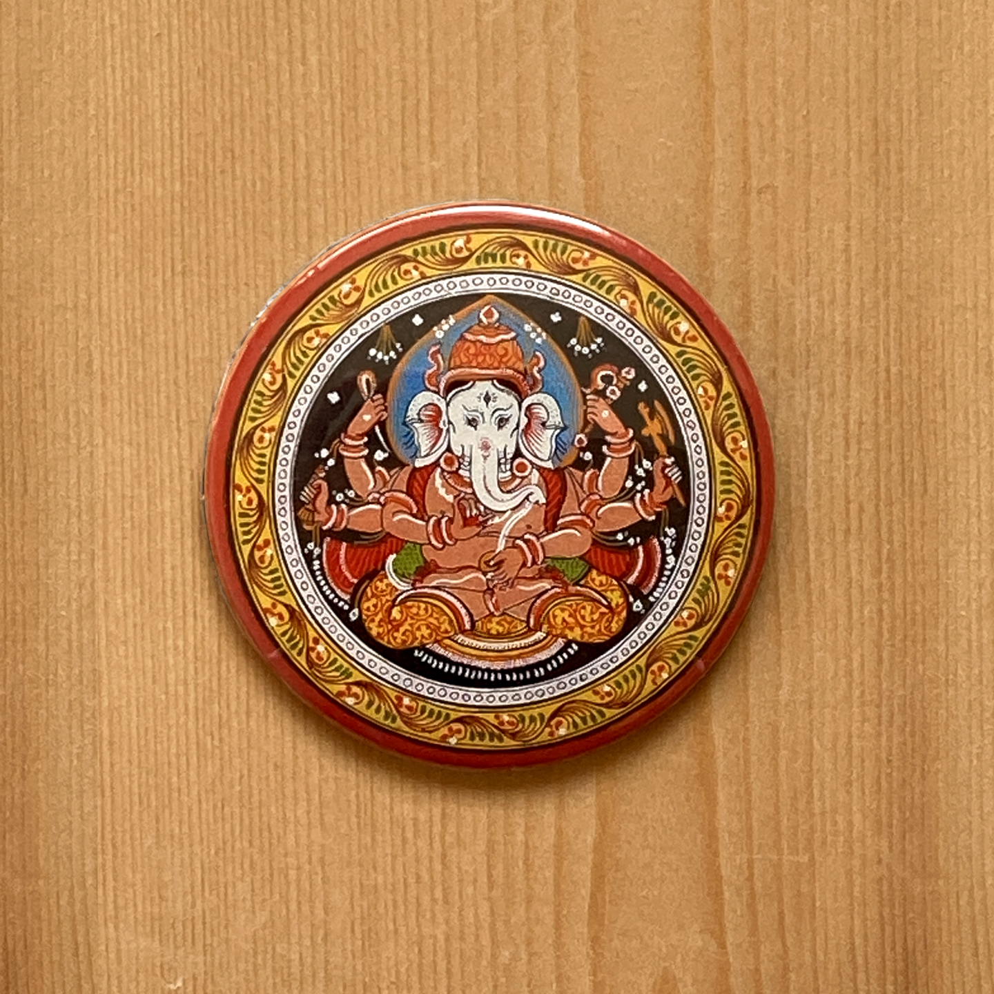FRIDGE MAGNETS ROUND - Ganesh Patachitra