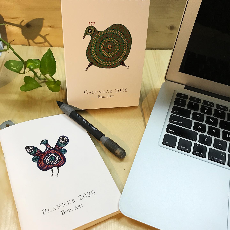 BHIL ART Calendar and Planner 2020 Pack