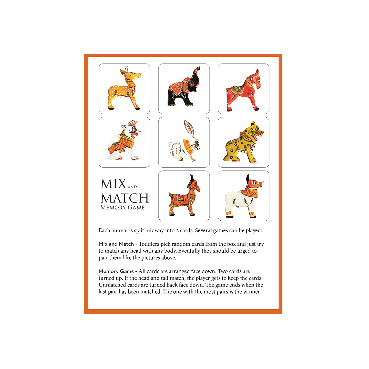 MIX AND MATCH - Patachitra Animals