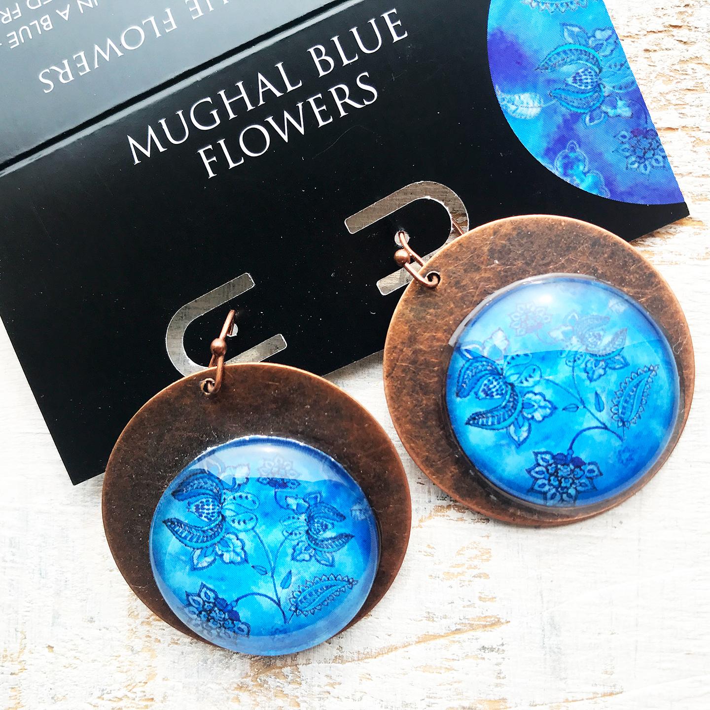 Earrings - Mughal Flowers on Copper