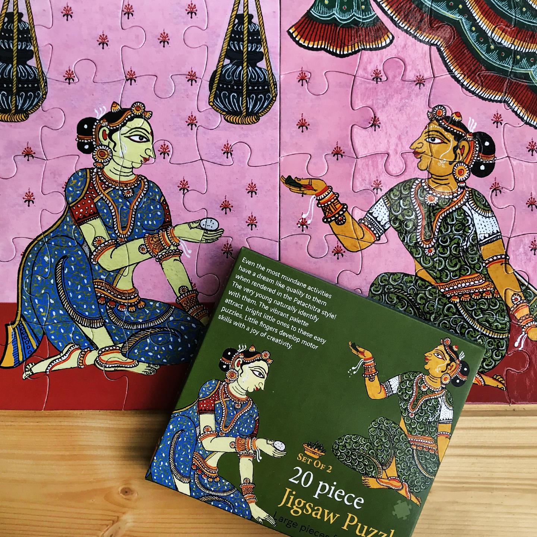 JIGSAW PUZZLE 20 PC - Patachitra of Odisha