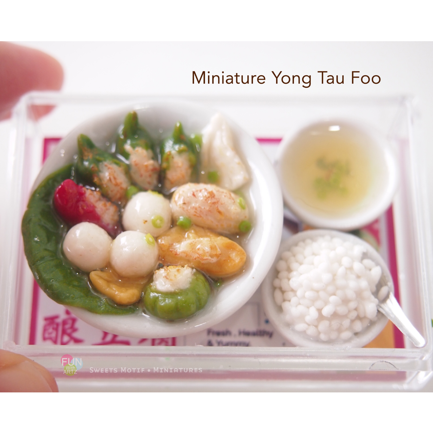 Miniature Food Clay Yong Tau Foo Set