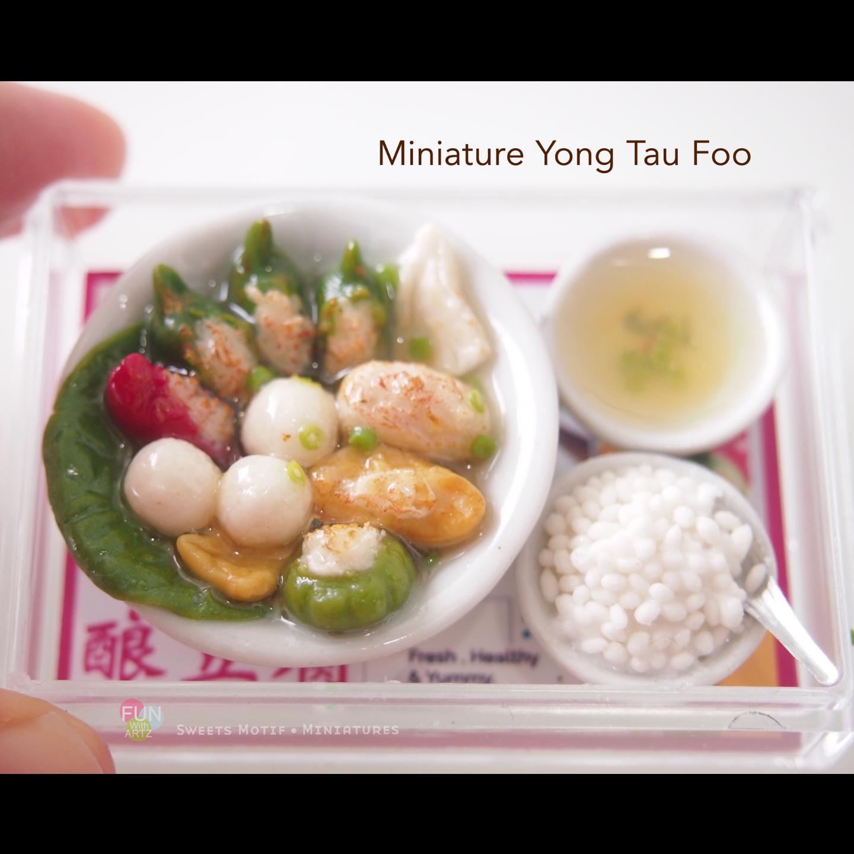 Miniature Food Clay Yong Tau Foo Set