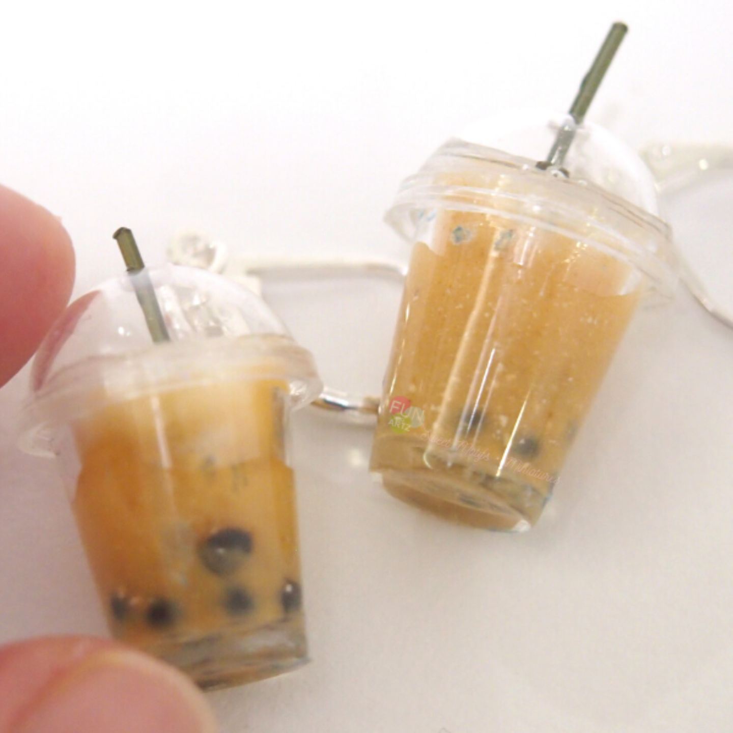 Jewelry- Bubble Tea Earrings Pearl Milk Tea