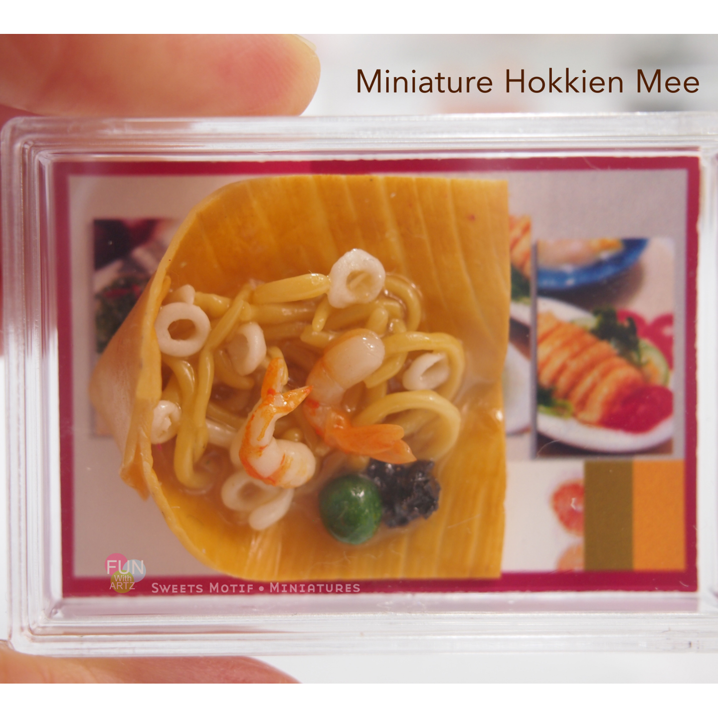 Miniature Food Clay Hokkien Mee