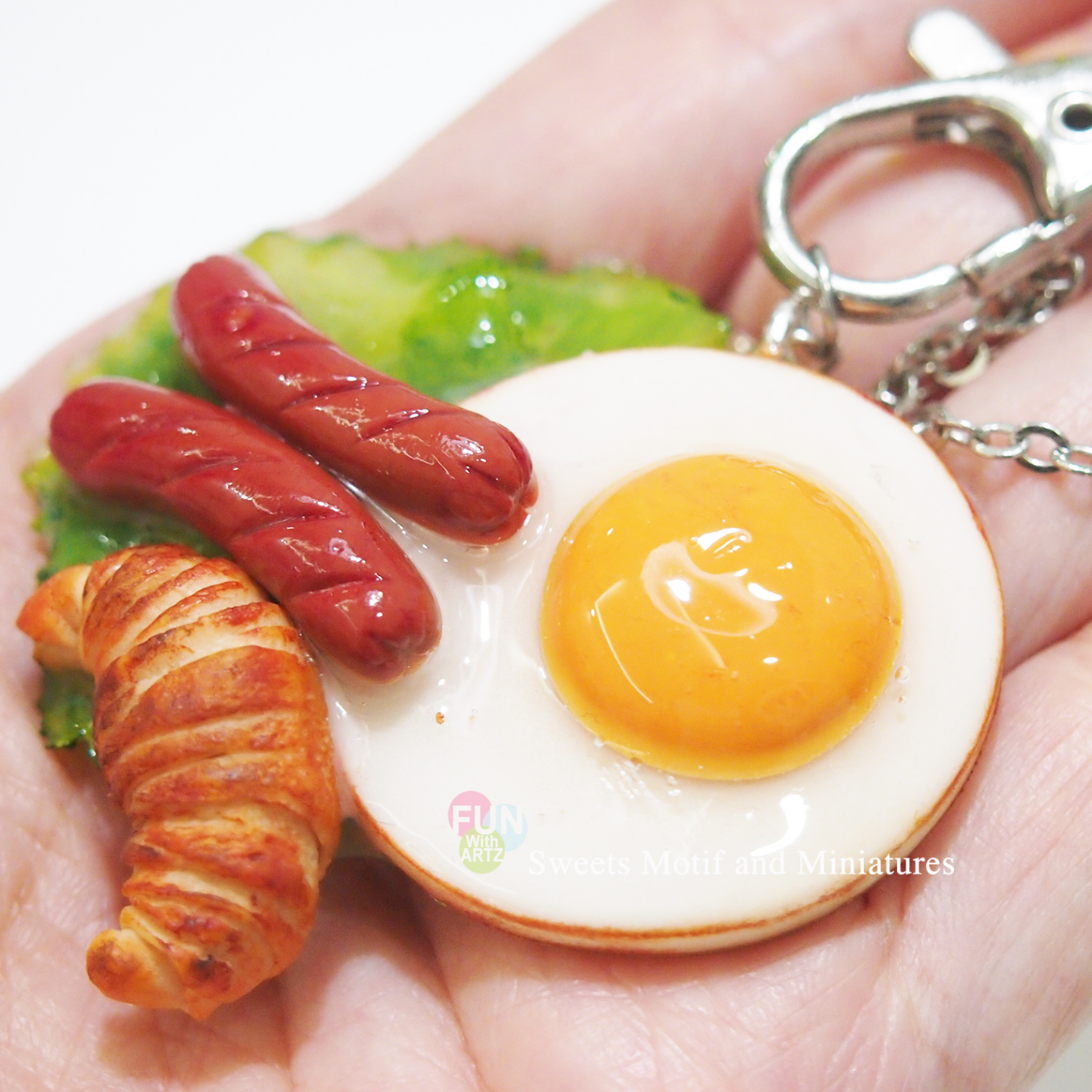 Keychain-Breakfast Egg Set