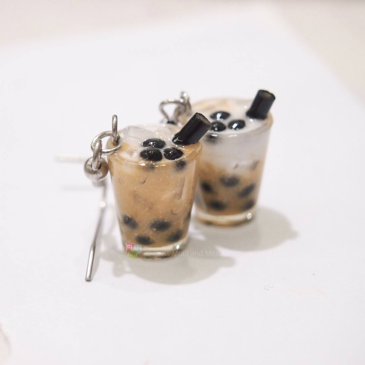 Jewelry-Bubble tea earrings / Boba tea earrings (No cover)