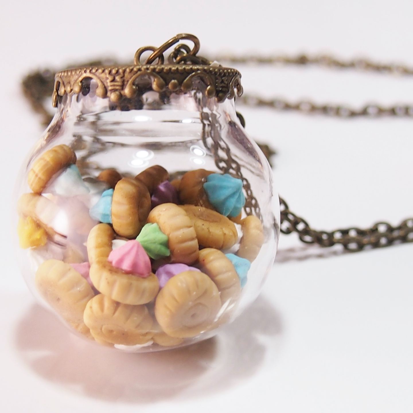Jewelry-Polymer Clay IcedGems Glass Globe Necklace