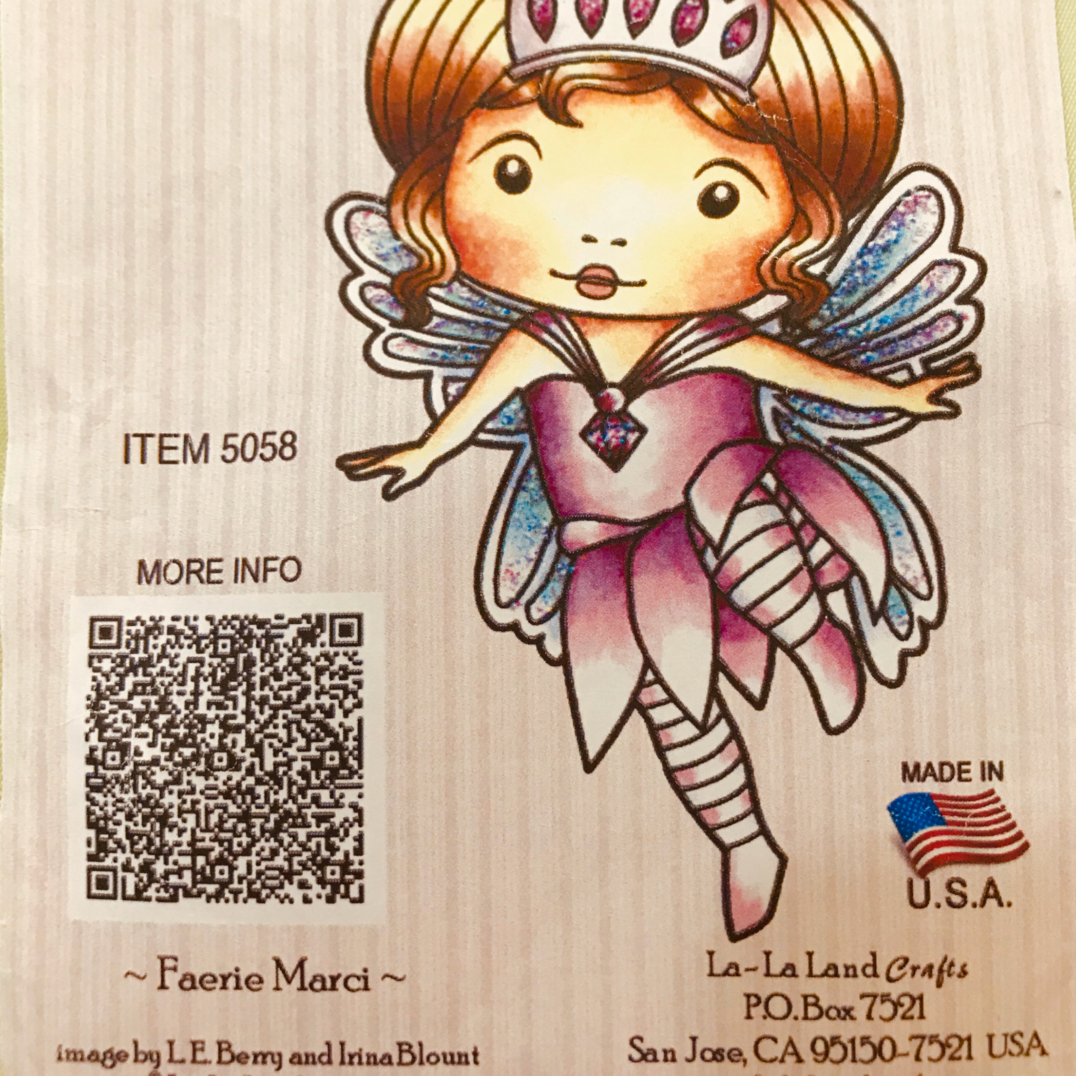 La-La Land Crafts Faerie Marci Rubber Stamps