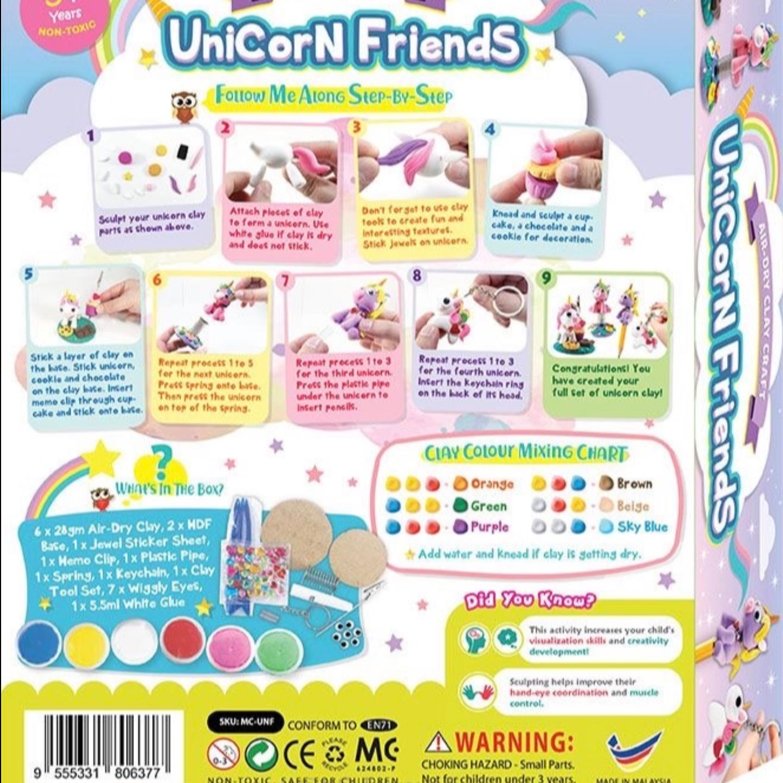 Unicorn Friends Clay Box Kit 4-in-1