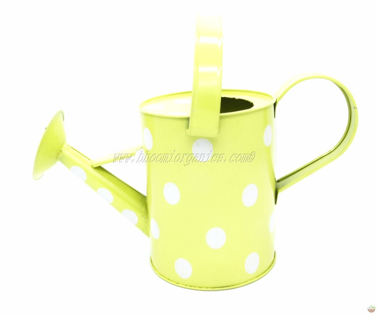 Water can 1 ltr polka dots yellow