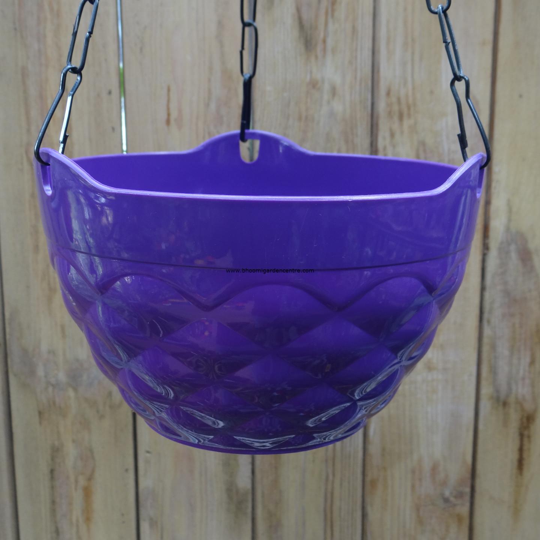 Diamond purple hanging plastic pot