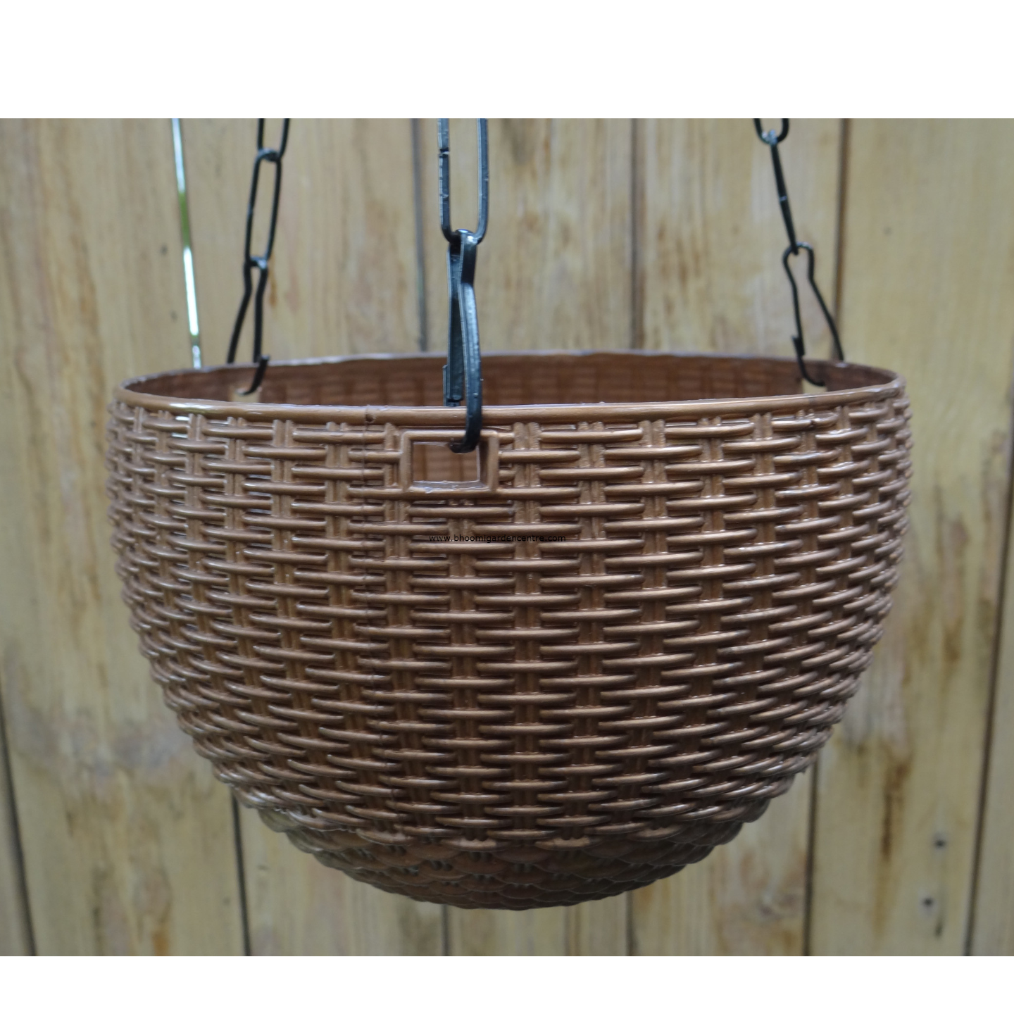 Rattan brown hanging plastic pot (7 . 1  inch)