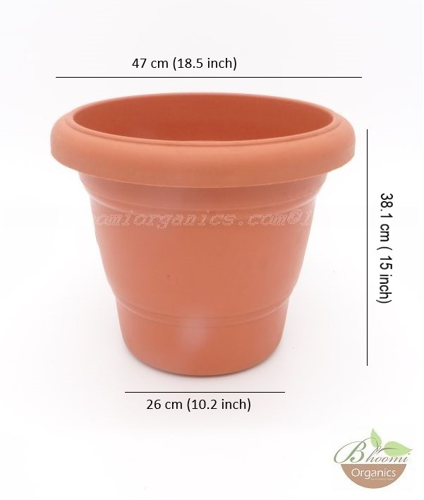 Regular Terracotta plastic pot 18 inch