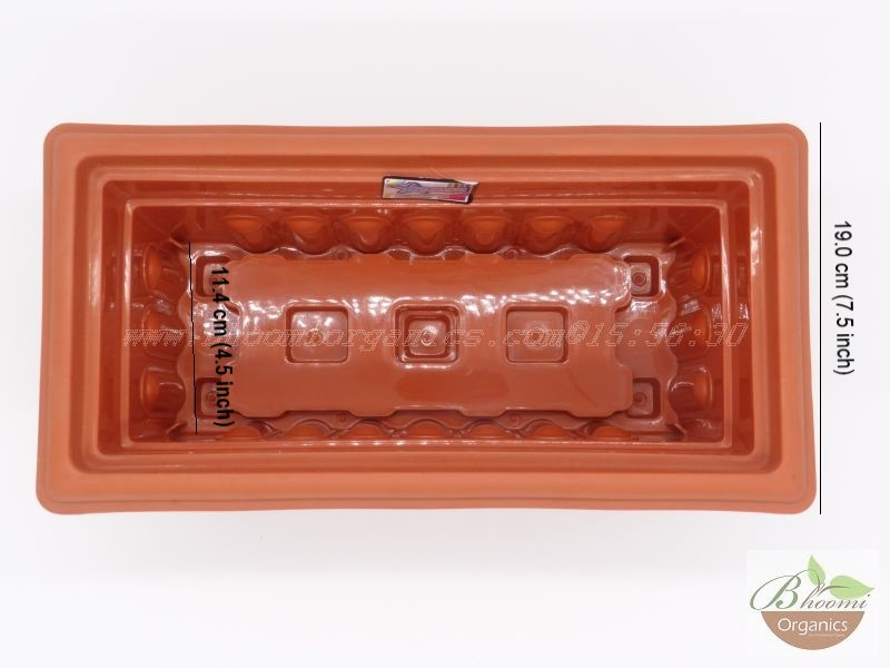 Rectangle Terracotta Plastic pot (12 inch)
