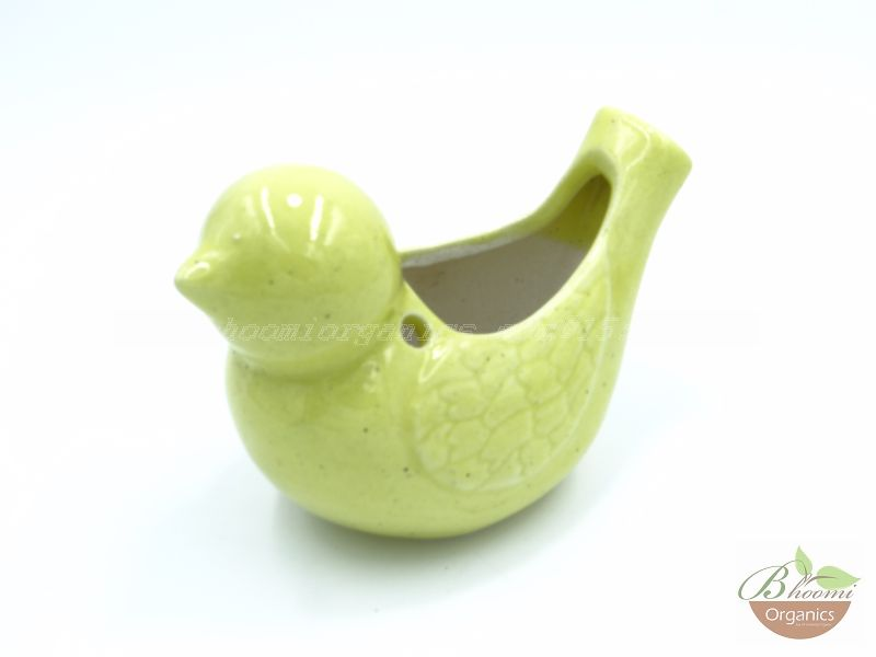 Sparrow pot yellow