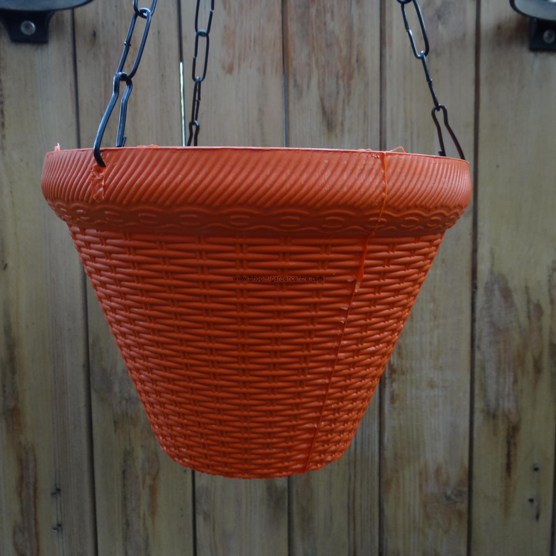Juhi orange hanging plastic pot