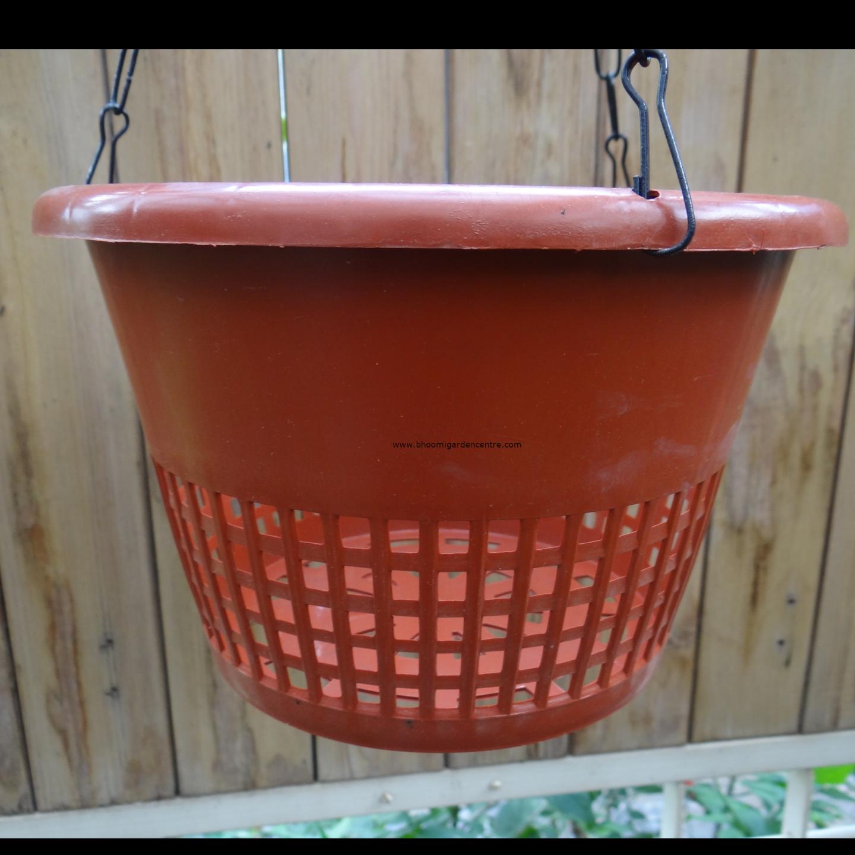 Transparent brown pot - 8 inch