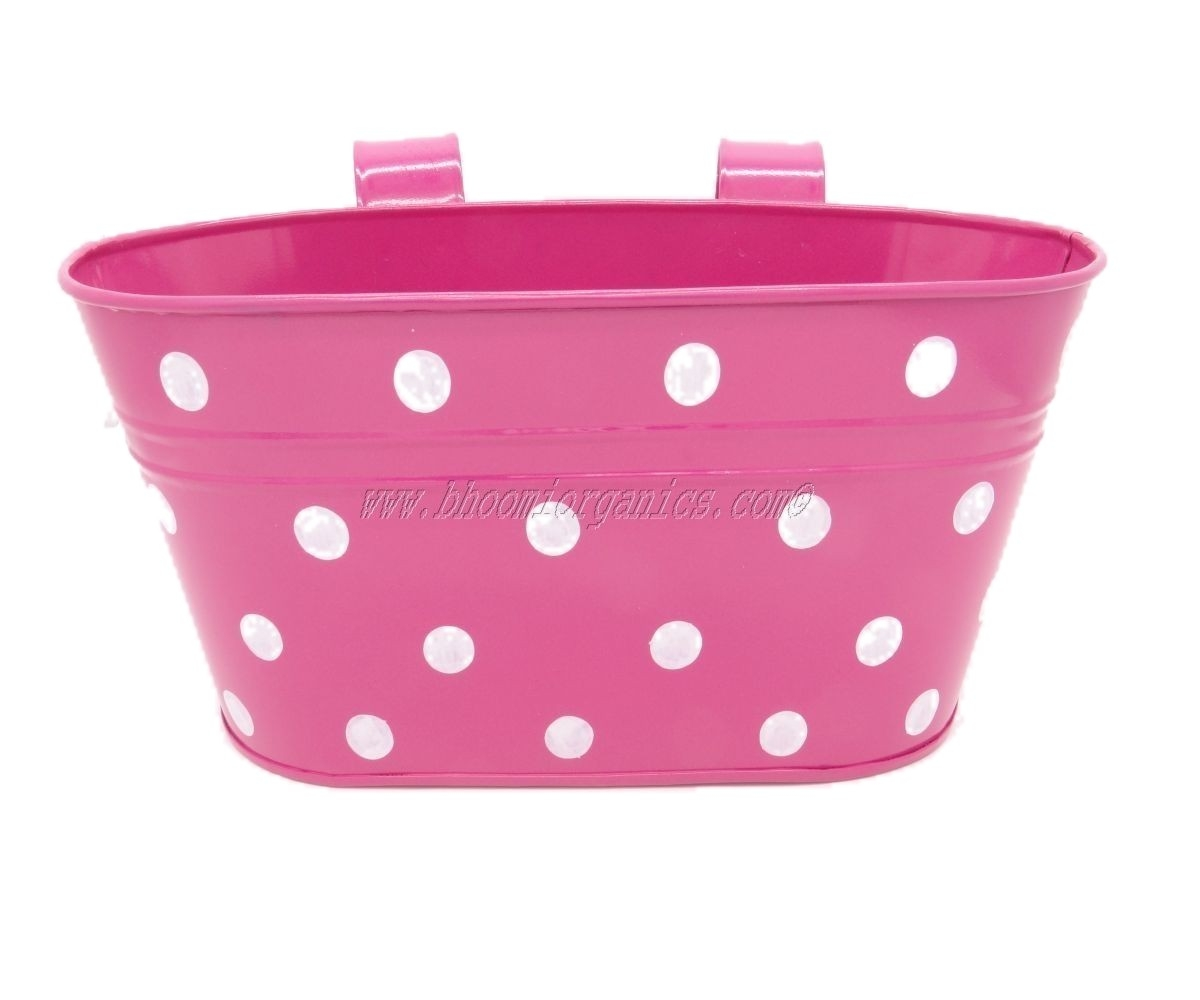 Pink oval with polka dots (13 inch)