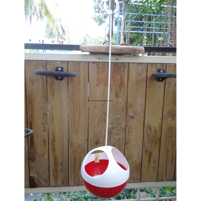 Avant  red ORB hanging pot