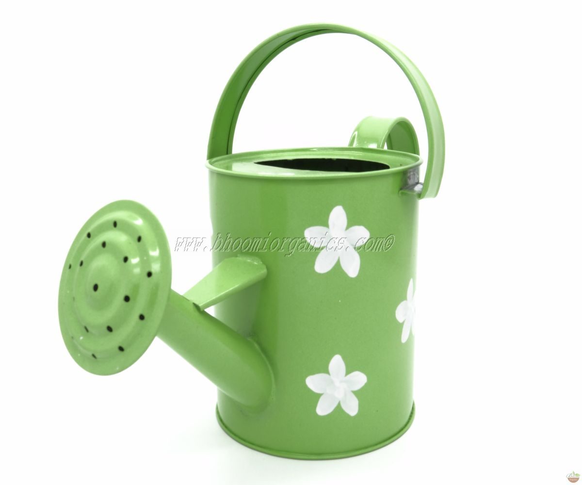 Water can 1 ltr flower dots green