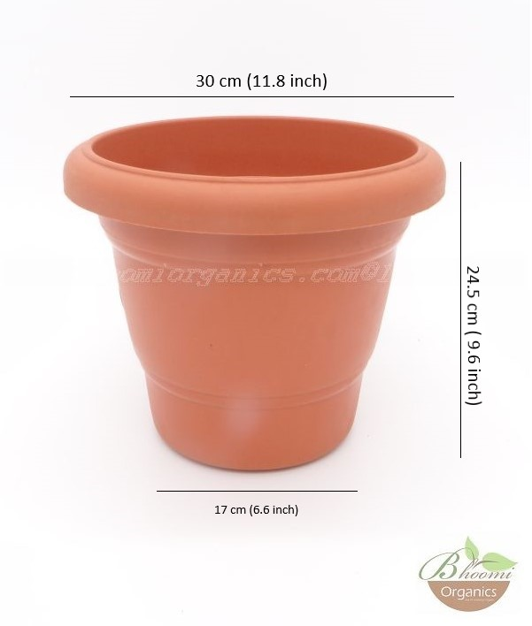 Regular Terracotta plastic pot 12 inch