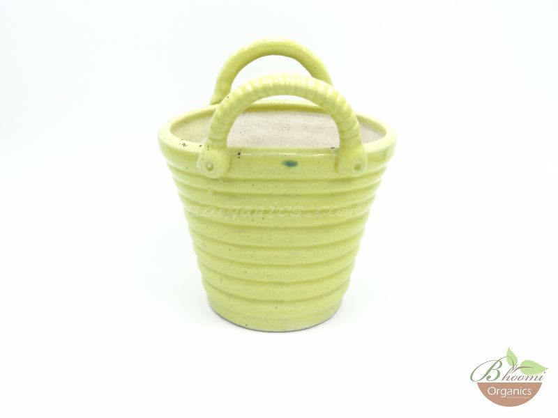 Bucket pot Yellow