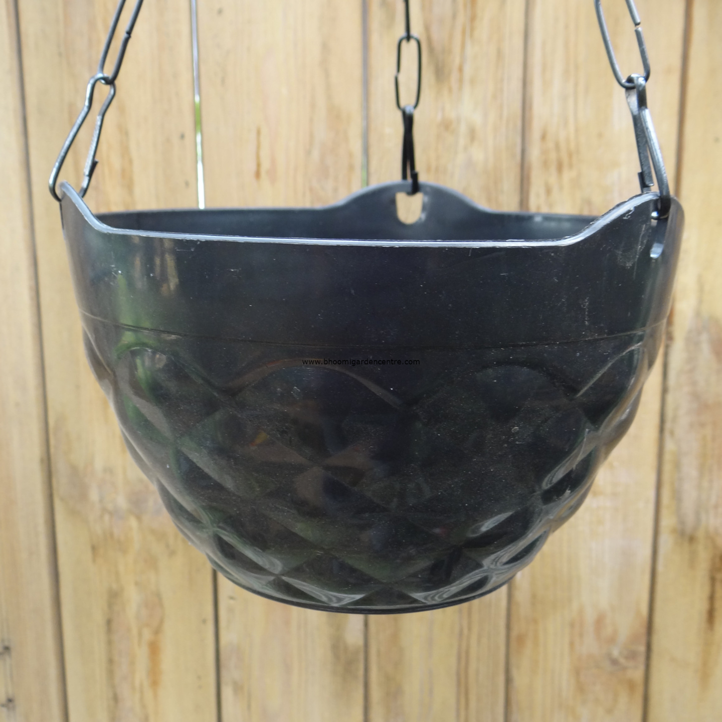 Diamond black hanging plastic pot