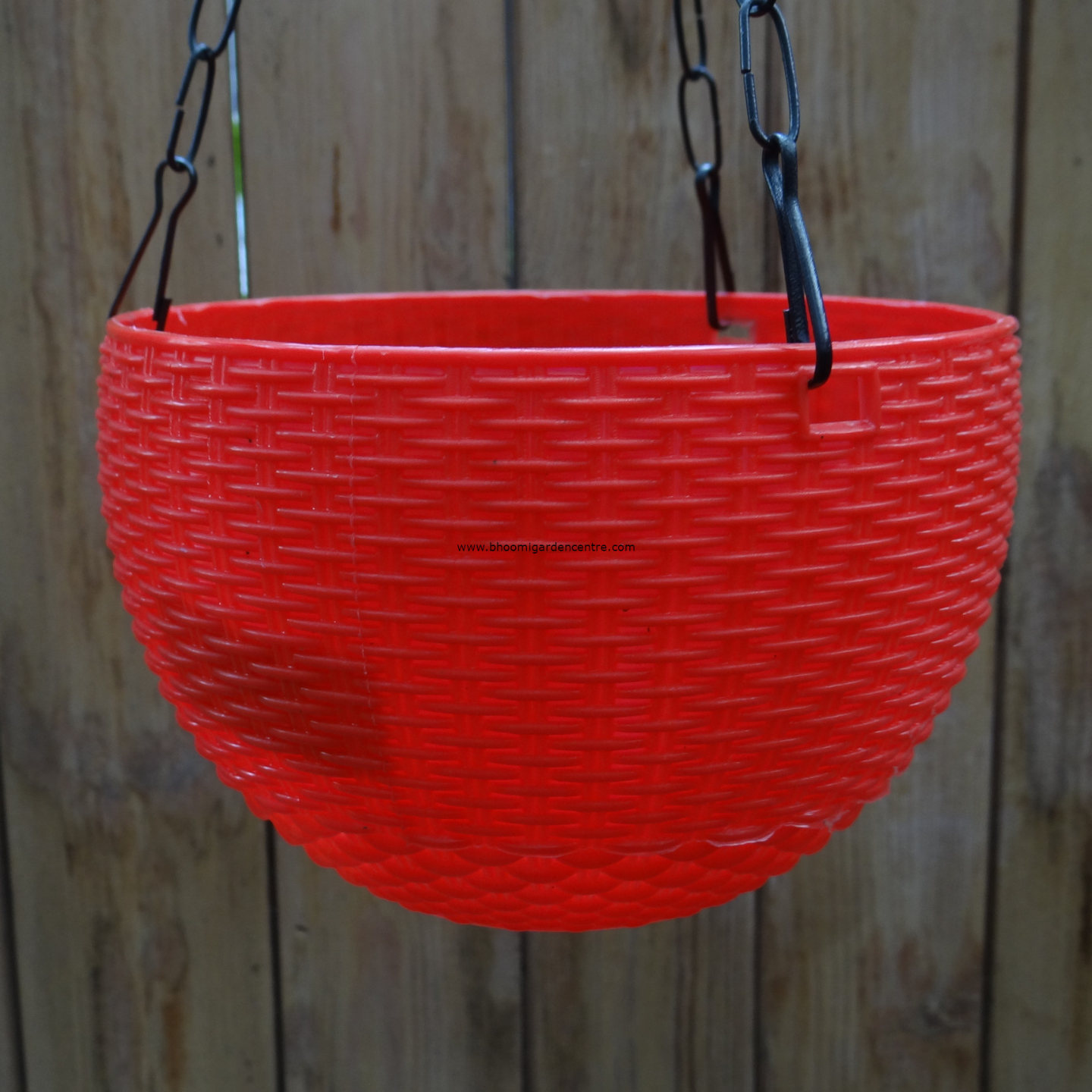 Rattan red hanging plastic pot (7 . 1  inch)