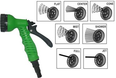 Flora 7-Pattern Nozzle Sprinkler