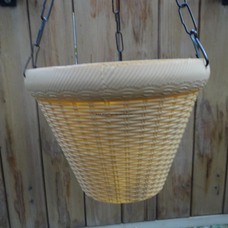 Juhi cream hanging plastic pot