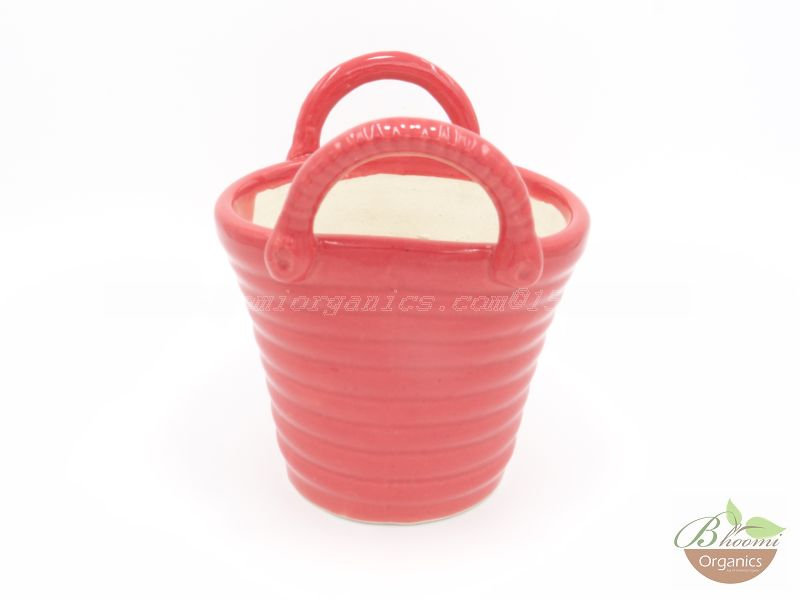 Bucket pot Red