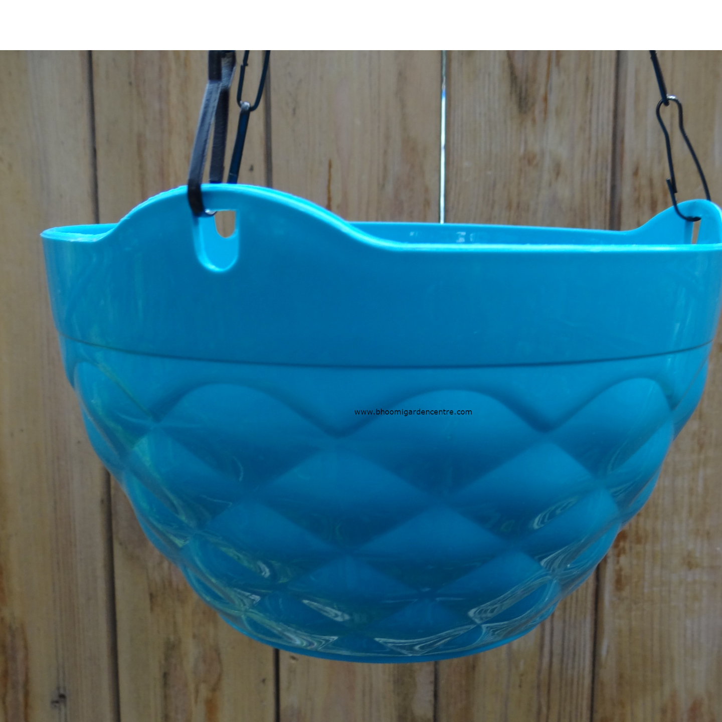 Diamond blue hanging plastic pot