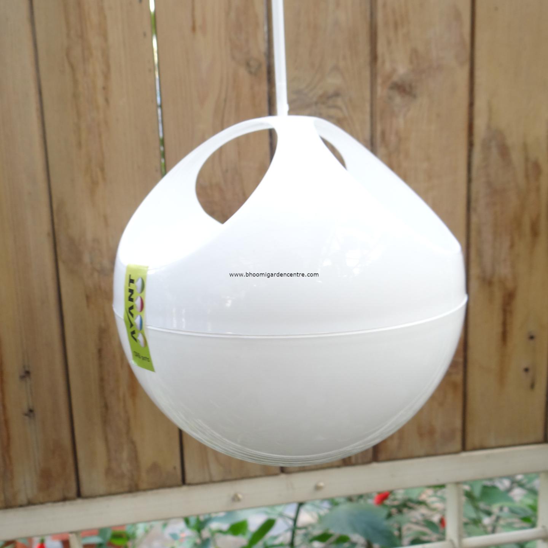 Avant white ORB hanging pot