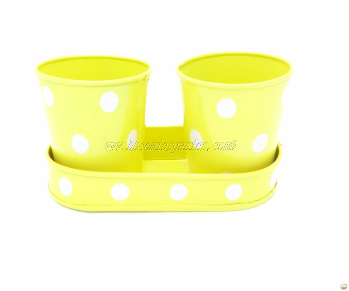Small 2 cup with plate yellow