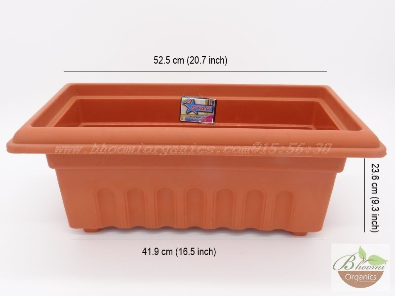 Rectangle Terracotta Plastic pot (18 inch)