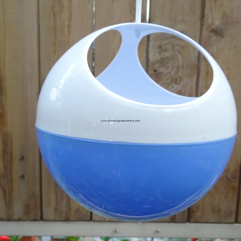 Avant Blue ORB hanging pot