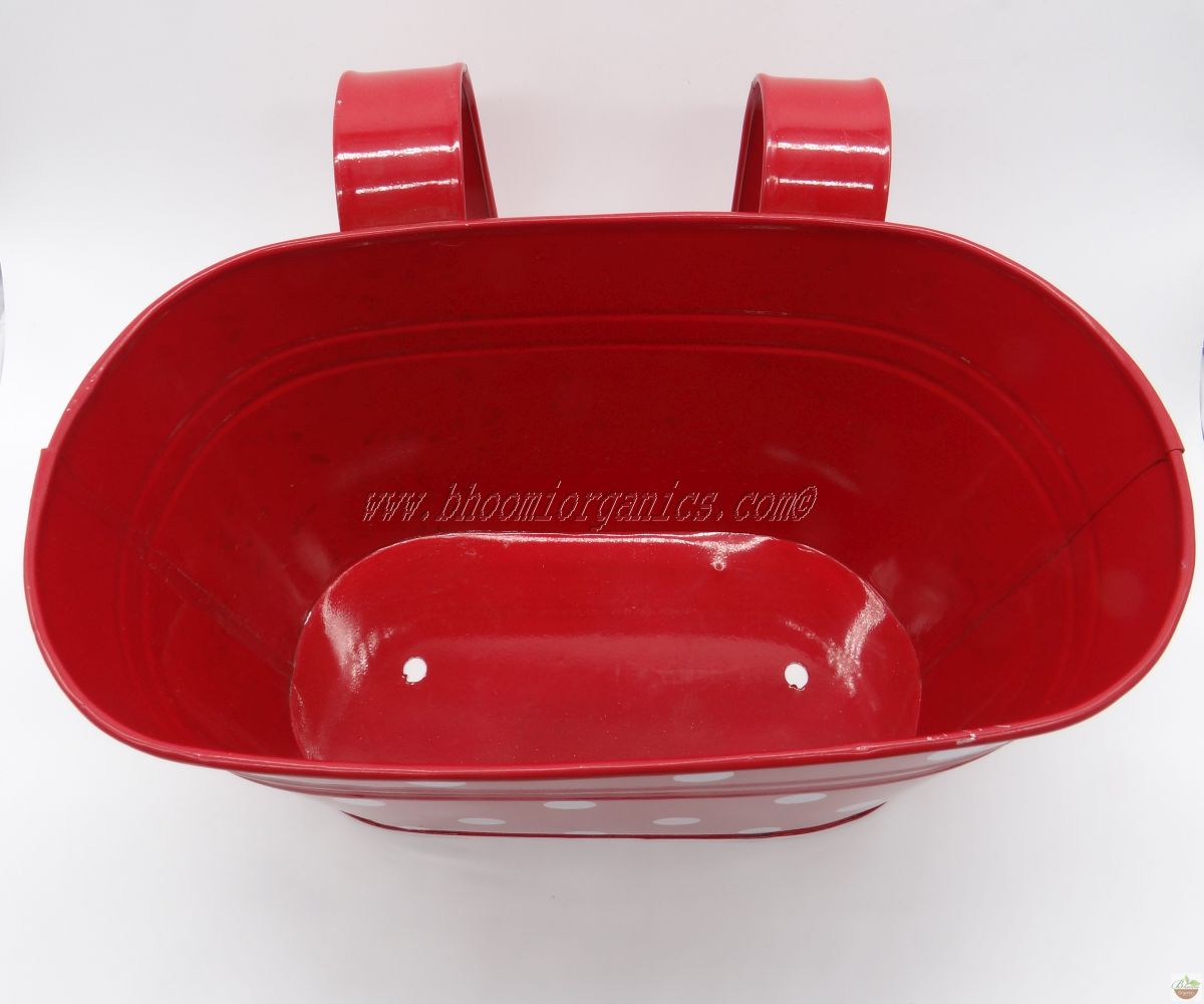 Red oval with polka dots (13 inch)