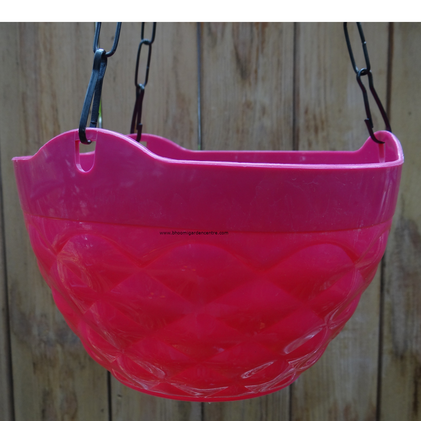 Diamond pink hanging plastic pot