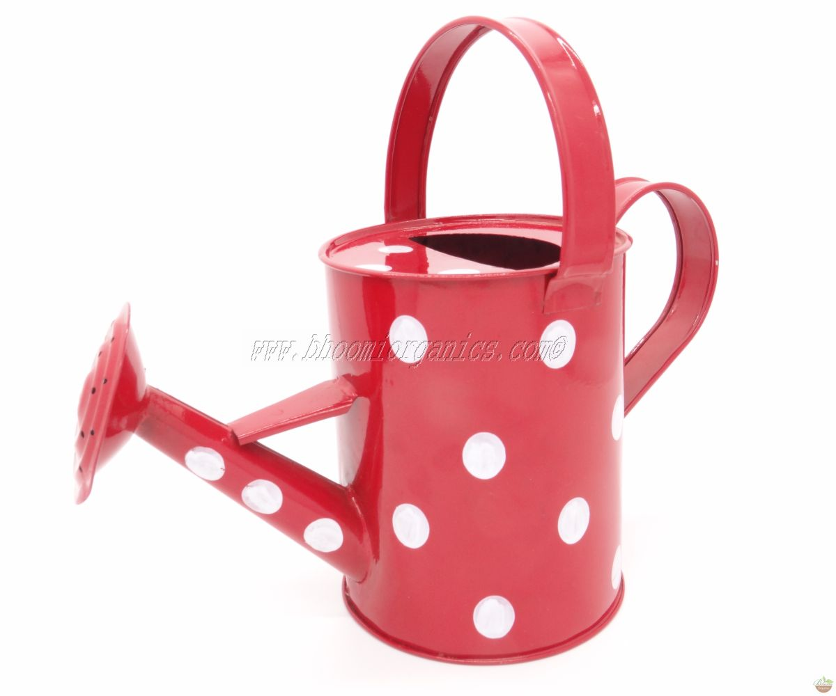Water can 1 ltr polka dots red