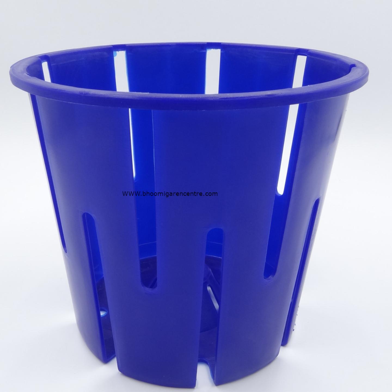 Avant blue orchid pot   w 16 x H x 18