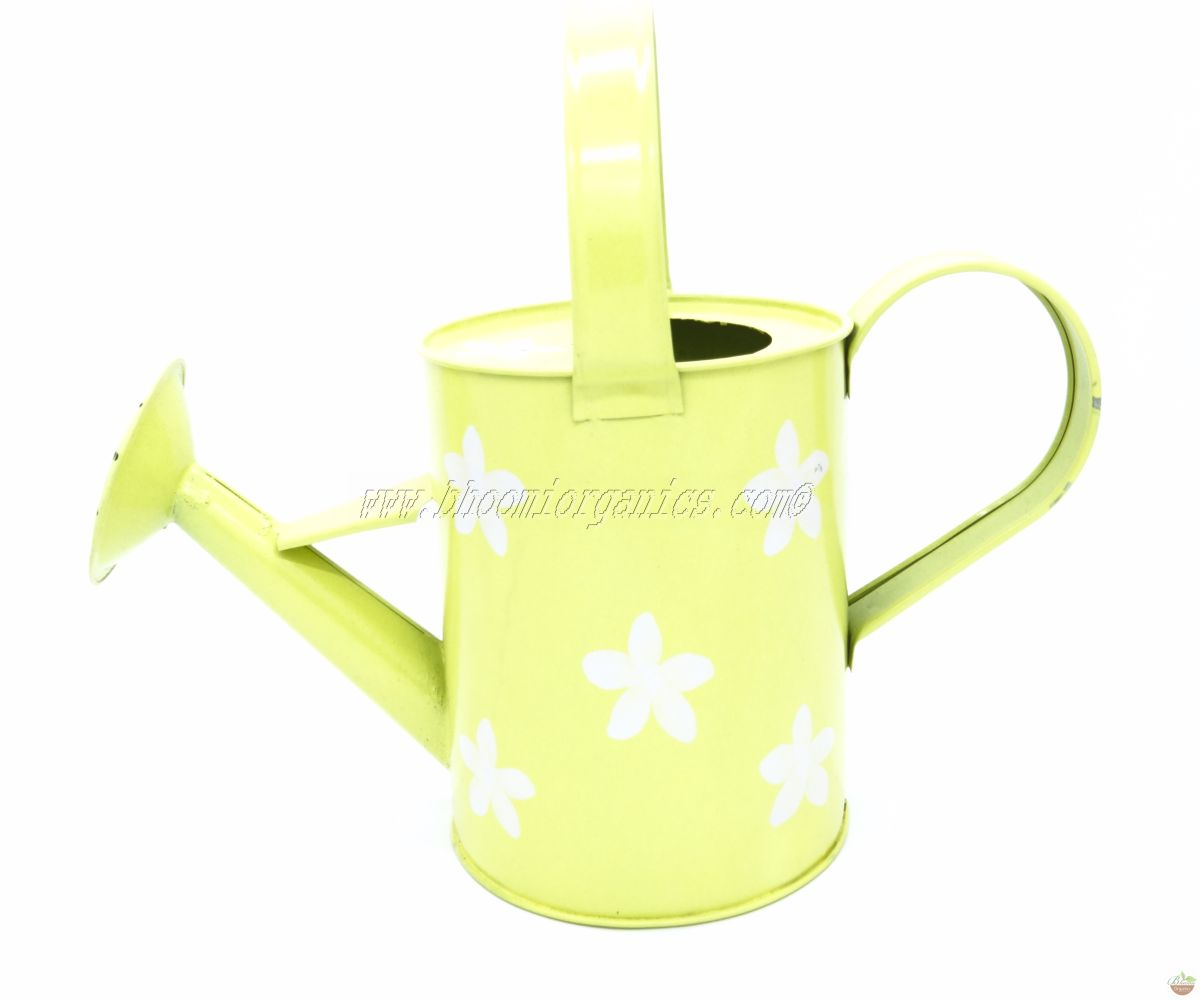 Water can 1 ltr flower dots yellow