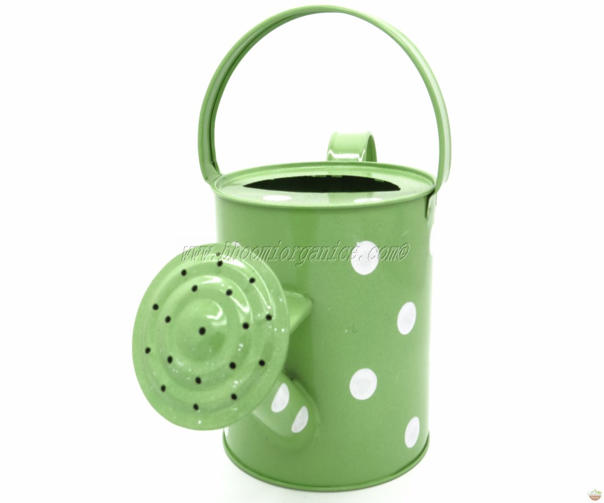 Water can 1 ltr polka dots green