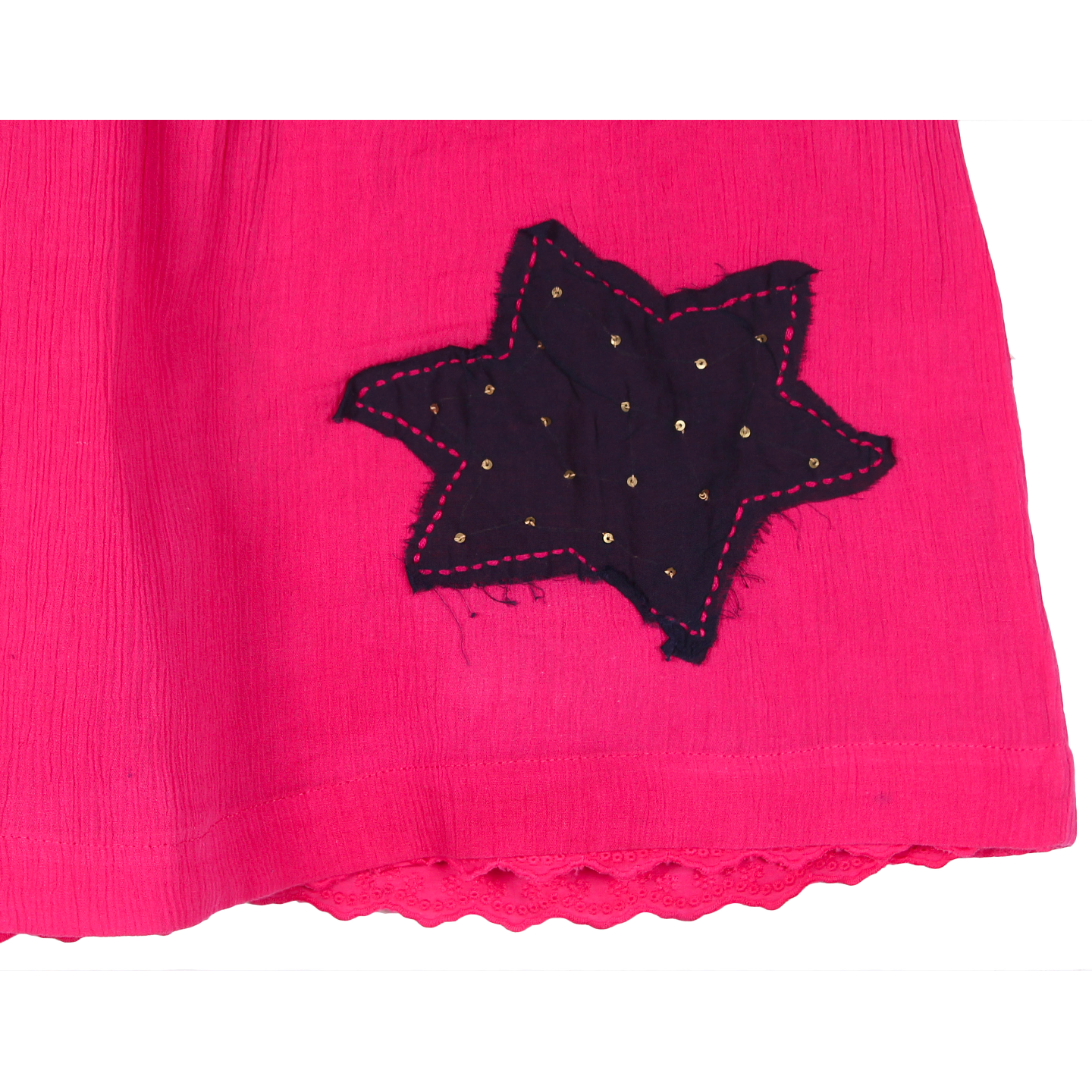 Star Patch Dress Pink