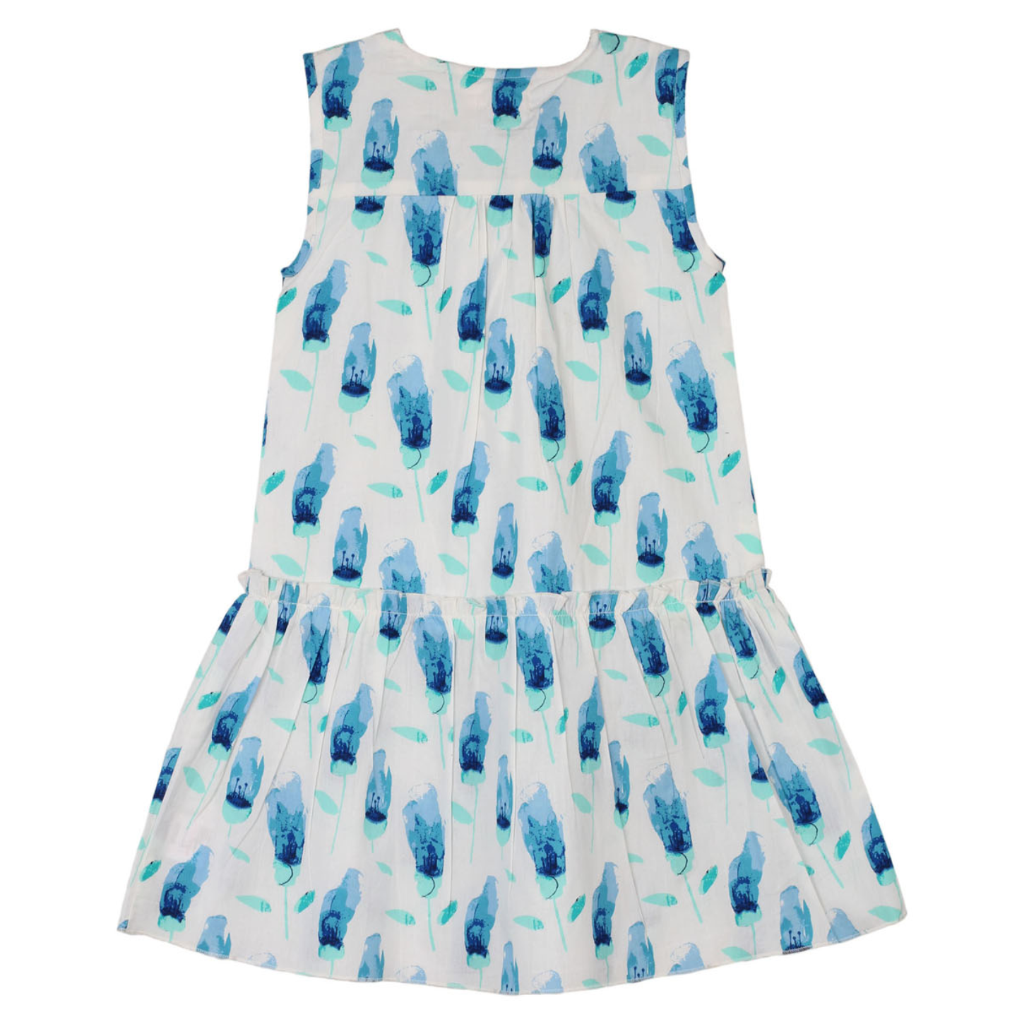 Mary Tulip Dress Blue