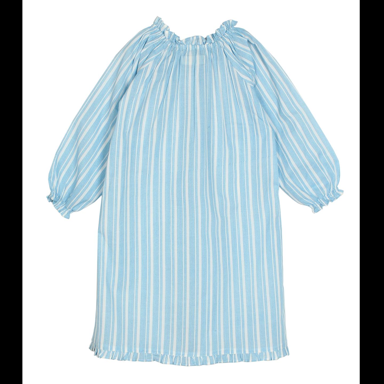 French blue full sleeve night dress