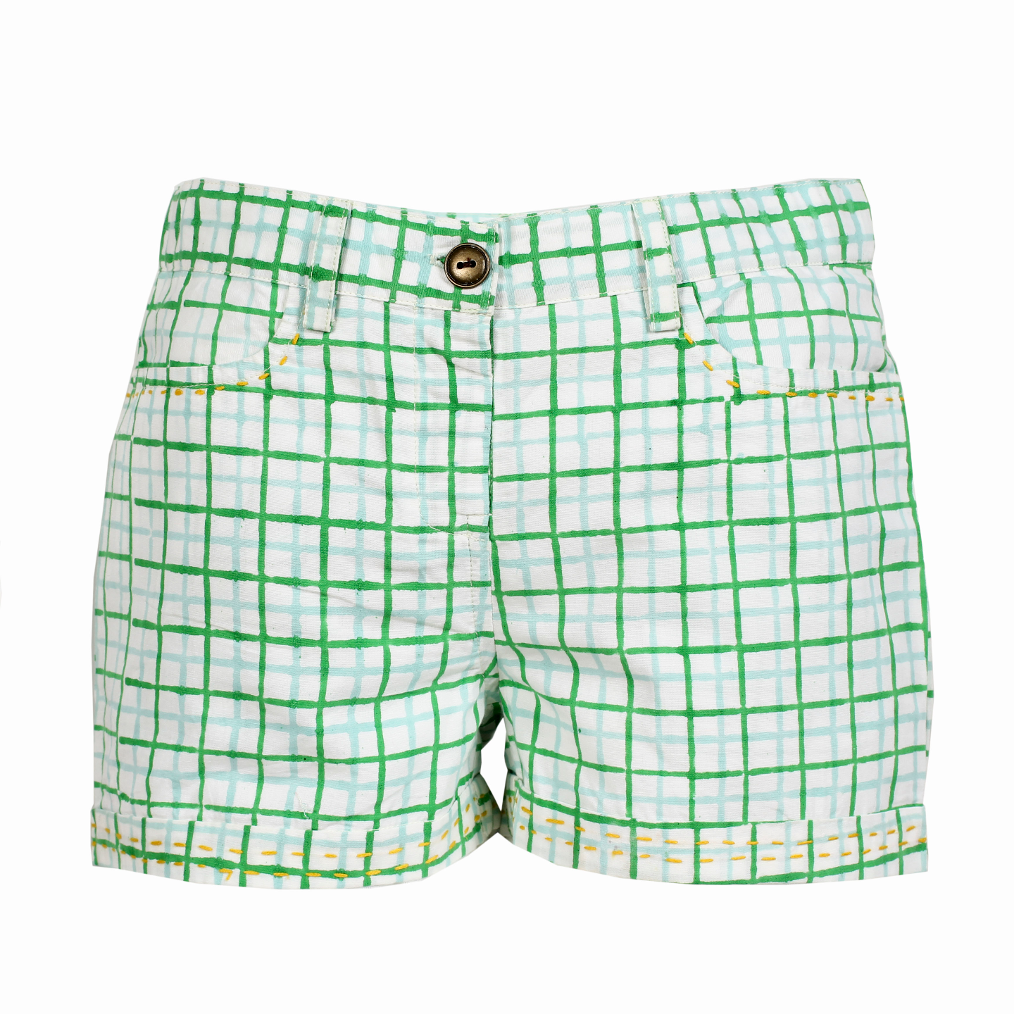 Moha Shorts - Green Checks